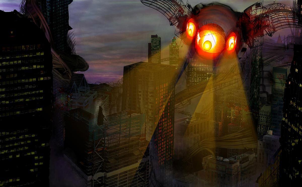 Matte painting: Cyberpunk City