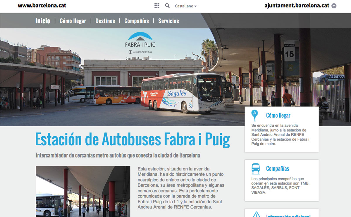 Web: Estacion Fabra i Puig